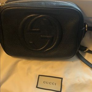 Black Gucci Soho disco bag